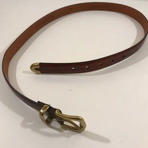 💖  Fossil genuine leather brass belt